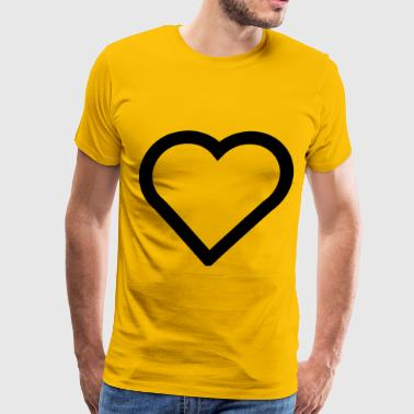 Heart Outline A simple heart (outline) - Men's Premium T-Shirt