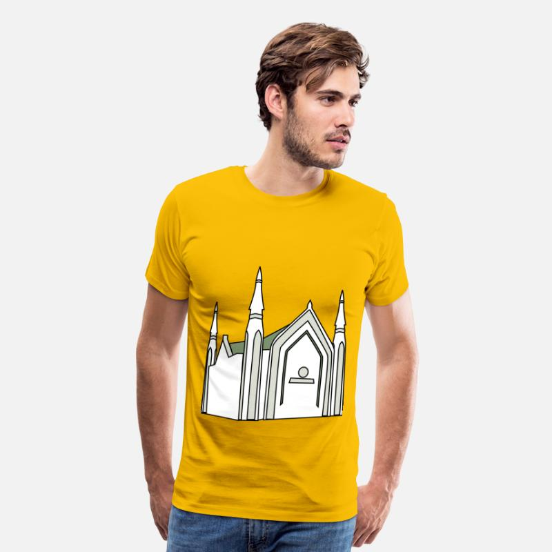 Building T-Shirts - Iglesia Ni Cristo - Men's Premium T-Shirt sun yellow