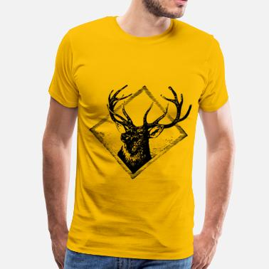 Solitary Stag - Men's Premium T-Shirt