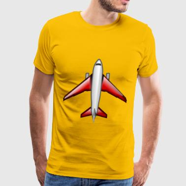 Red Plane Plane Red - Men's Premium T-Shirt