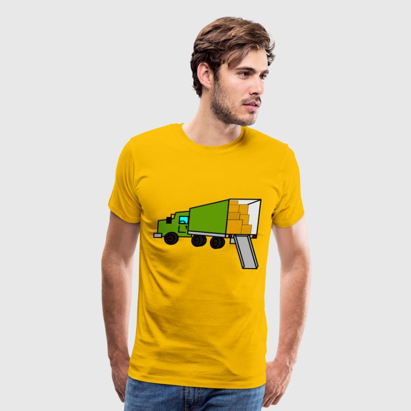 moving truck - Men's Premium T-Shirt