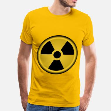 Hazard Radiation symbol nuclear - Men's Premium T-Shirt
