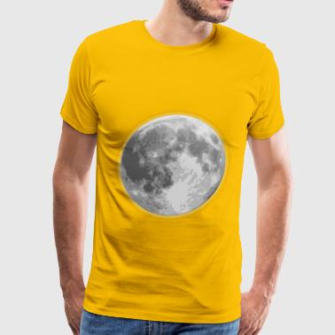 weather icon full moon - Men's Premium T-Shirt