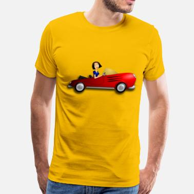 Female Driver Brunette Female Driver - Men's Premium T-Shirt