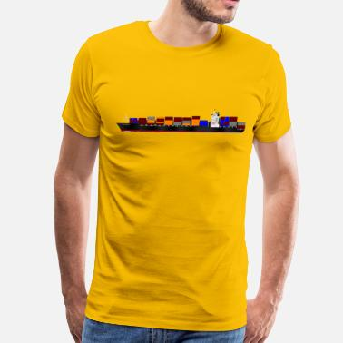 Container Ship Container ship - Men's Premium T-Shirt