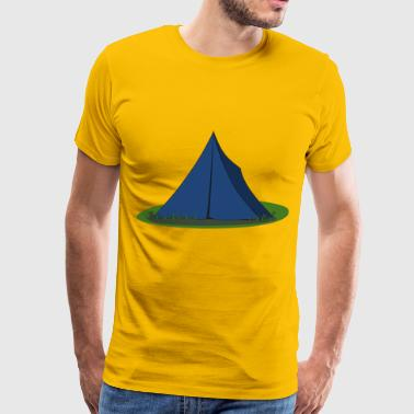 Blue Lodge & Blue Ridge Tent - Men's Premium T-Shirt