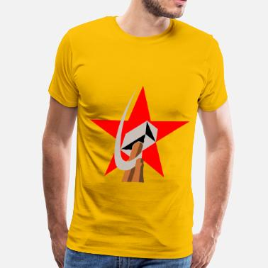 Workers Unite hammer and sickle in star - Men's Premium T-Shirt