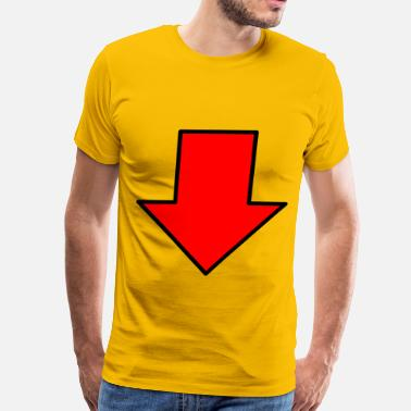 Arrows Red down arrow - Men's Premium T-Shirt