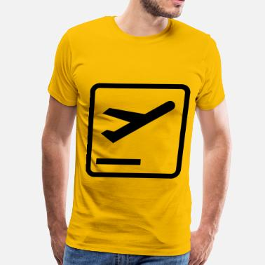 Departure Departures Pictogram - Men's Premium T-Shirt