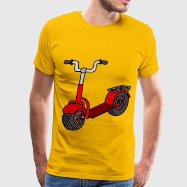 Kick Scooter Kick scooter coloured - Men's Premium T-Shirt