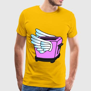 Pink Flying Toaster - Men's Premium T-Shirt