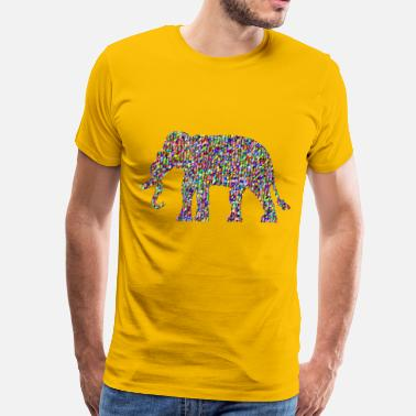 Chromatic Chromatic Triangular Elephant - Men's Premium T-Shirt