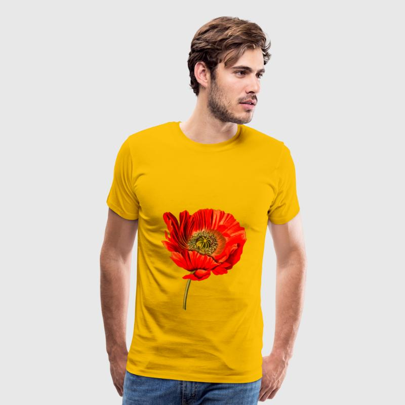Opium poppy 2 (detailed) - Men's Premium T-Shirt