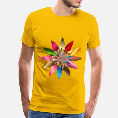 Chromatic Chromatic Flower - Men's Premium T-Shirt