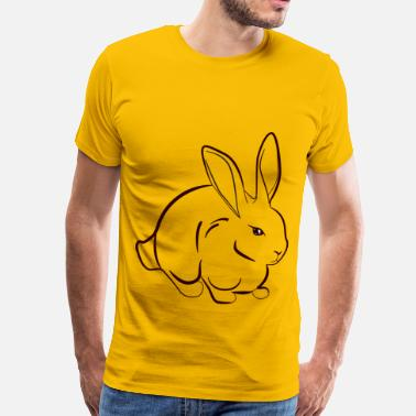 Furry Art Rabbit Line Art - Men's Premium T-Shirt