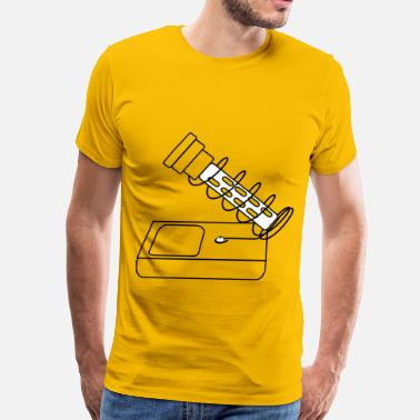 Soldering Iron tool soldering iron stand drawing coloring - Men's Premium T-Shirt