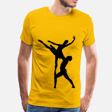 Ballet Man Woman And Man Ballet Silhouette - Men's Premium T-Shirt
