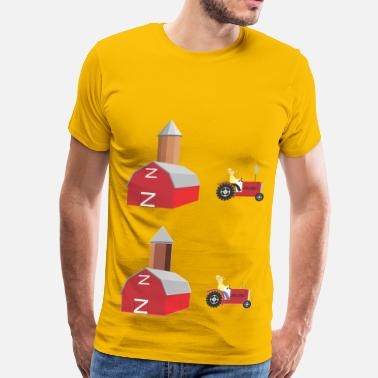 Siloe Farmer And Silo - Men's Premium T-Shirt