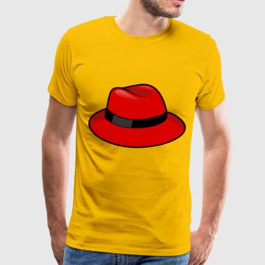 Red Fedora - Men's Premium T-Shirt