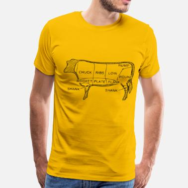 Beef Beef cuts - Men's Premium T-Shirt