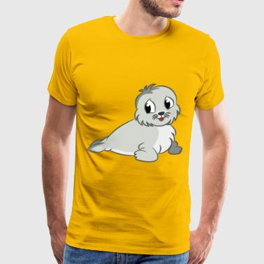 Baby seal drawing - Men's Premium T-Shirt