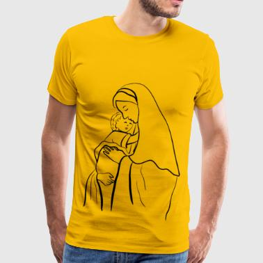 Virgin Mary And Baby Jesus - Men's Premium T-Shirt