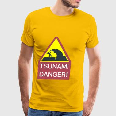 Tsunami Danger Sign - Men's Premium T-Shirt