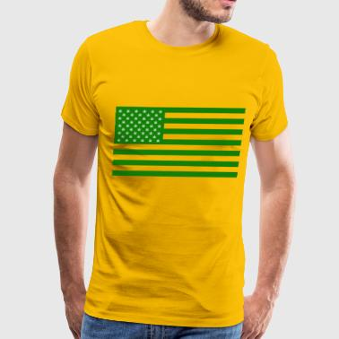 Marijuana Cannabis American Flag Legalize Drugs US - Men's Premium T-Shirt