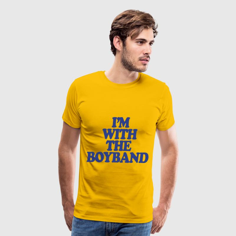 I'm With The Boy Band - Men's Premium T-Shirt