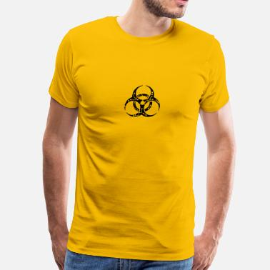 Electrical Symbols circuitry electrically symbol toxic virus bacteria - Men's Premium T-Shirt