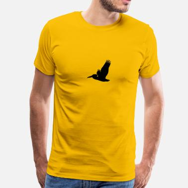 Pelican Flying Pelican Silhouette - Men's Premium T-Shirt