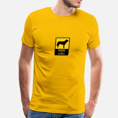 Dog Boarding Dog On Board - Men's Premium T-Shirt