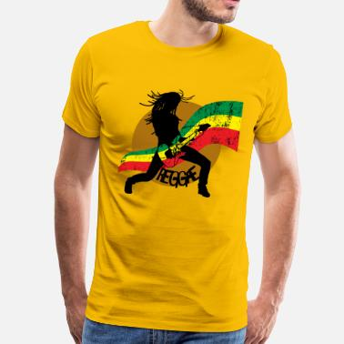 Lion Reggae Reggae - Men's Premium T-Shirt