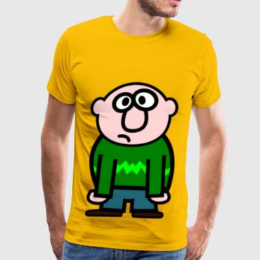 Man Cartoon - Men's Premium T-Shirt
