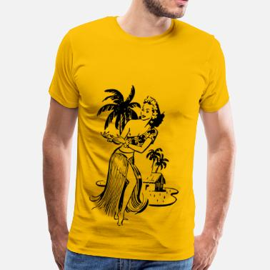 Vintage Hawaiian Hawaiian lady - Men's Premium T-Shirt