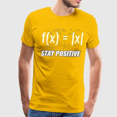 Funny Functions ➢ Stay Positive ➢ Math Equations - Men's Premium T-Shirt