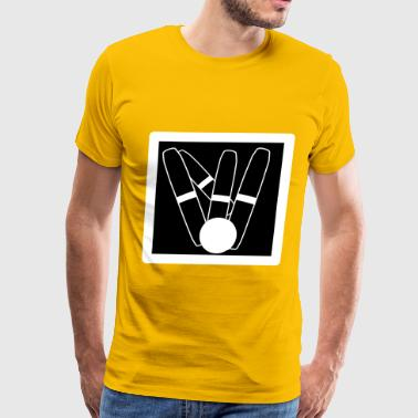 Candlepin Bowling Icon - Men's Premium T-Shirt