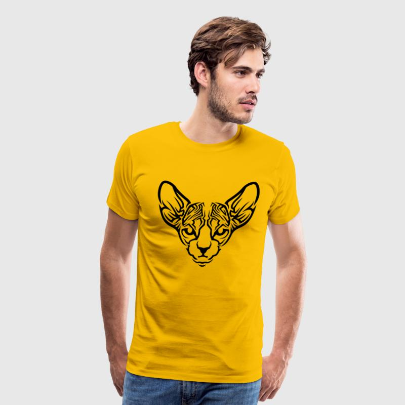 The Sphynx cat pattern - Men's Premium T-Shirt