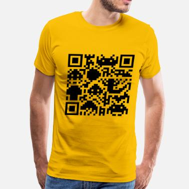 Barcodes Square Barcode - Men's Premium T-Shirt