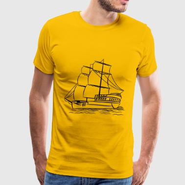 sailing ship old ship - Men's Premium T-Shirt