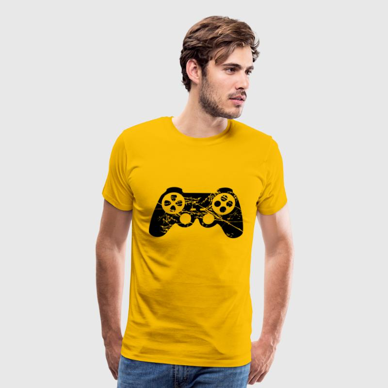 scratches cracks old design cool controller - Men's Premium T-Shirt