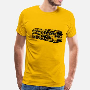 Transport Truck truck car transporter - Men's Premium T-Shirt