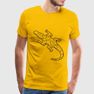 Alligator Art Alligator art puzzle pattern - Men's Premium T-Shirt