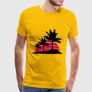 palm beach 3 allee row windy wind storm gusts air  - Men's Premium T-Shirt