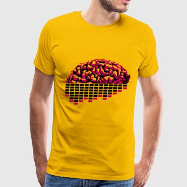music party dj club cyborg brain machine computer  - Men's Premium T-Shirt