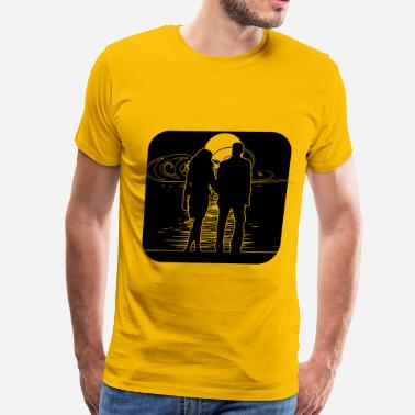 Full Art full moon art liebespaar - Men's Premium T-Shirt