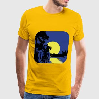 full moon melancholy nature - Men's Premium T-Shirt
