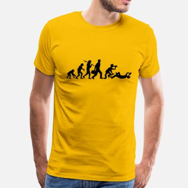 Drunk Evolution Lie evolution man work drunk drunk oktoberfest bee - Men's Premium T-Shirt