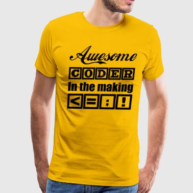 Developer T Shirt: Awesome Coder in the Making - Men's Premium T-Shirt