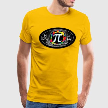 Pi Day Symbol Oval - Men's Premium T-Shirt